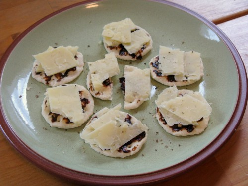 vegemite and cheese on crackers