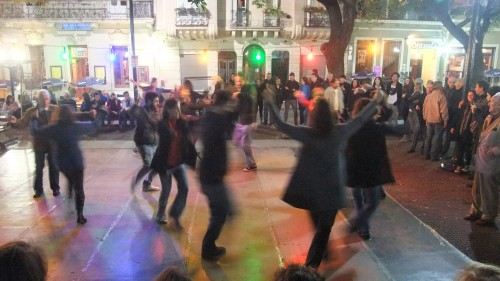 Dancing at Plaza Dorrego