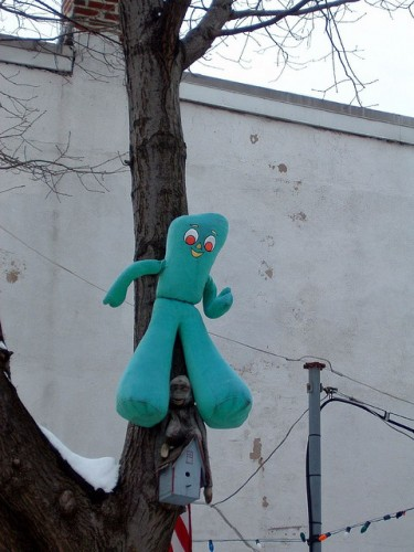 gumby in tree