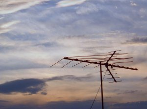 antenna and clouds