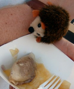 pierogie and hedgehog